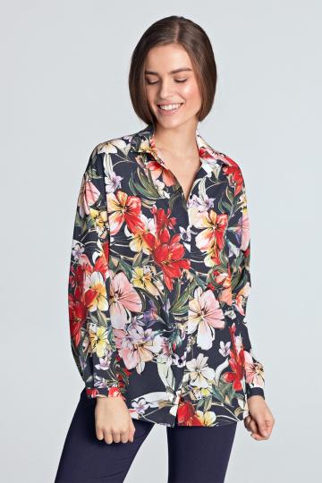Marškiniai ilgomis rankovėmis modelis 128186 Nife