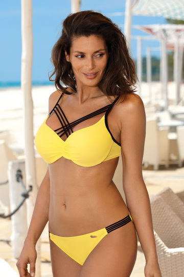 Two-Piece Swimsuit Kostium k pielowy Model Electra Tweety M-542 Yellow - Marko