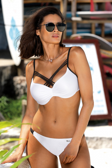 Two-Piece Swimsuit Kostium k pielowy Model Electra Bianco M-542 White - Marko