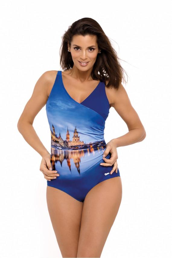 One-Piece Swimsuit Kostium k pielowy Model Daniella Blueberry M-555 Jagoda - Marko