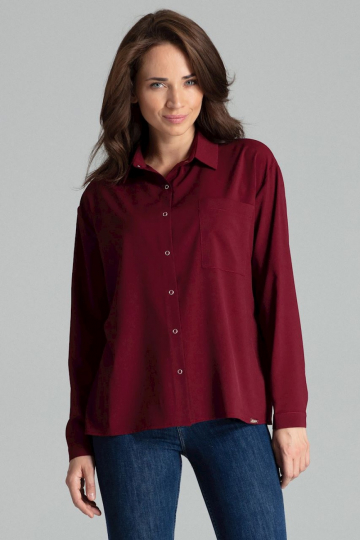 Marškiniai ilgomis rankovėmis modelis 135872 Lenitif