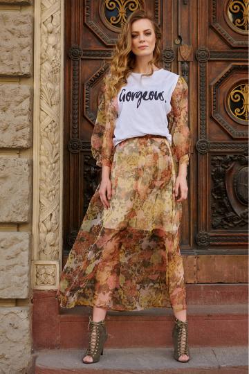 Ilgas sijonas modelis 145581 Makadamia