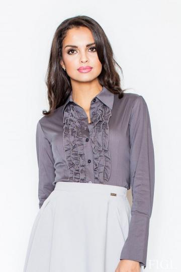 Marškiniai ilgomis rankovėmis modelis 5372 Figl